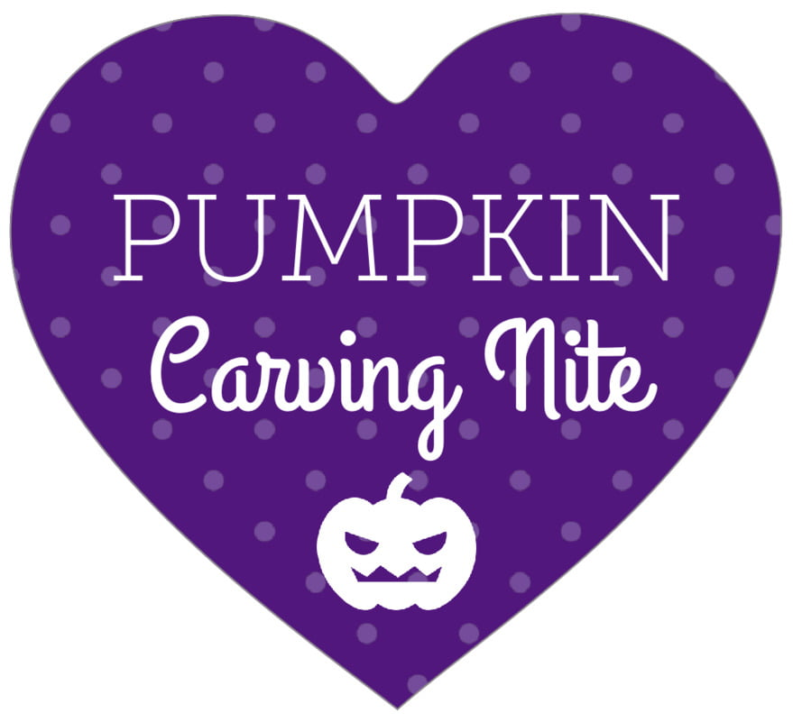 small heart food/craft labels - purple - iconic halloween (set of 20)