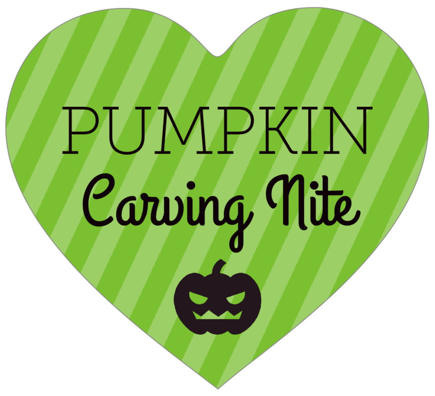 small heart food/craft labels - lime - iconic halloween (set of 20)