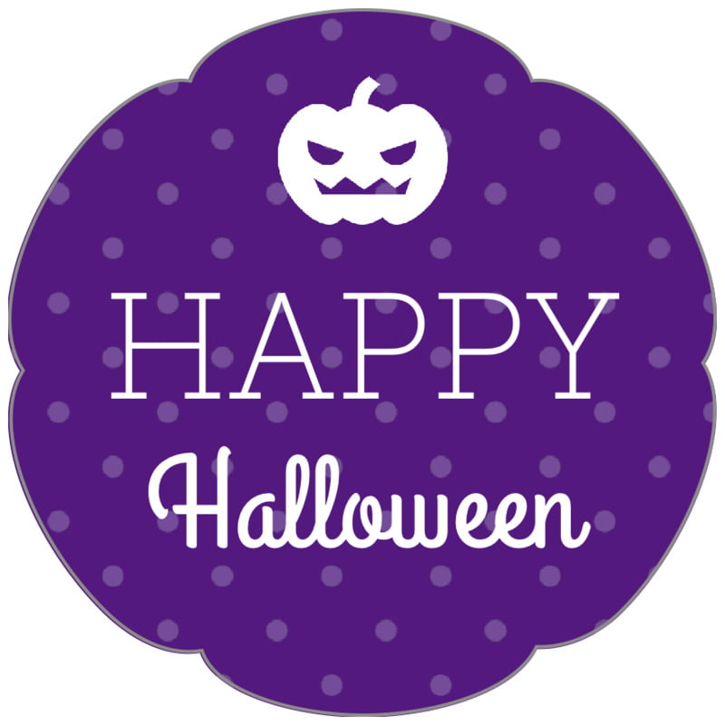 petal food/craft labels - purple - iconic halloween (set of 30)
