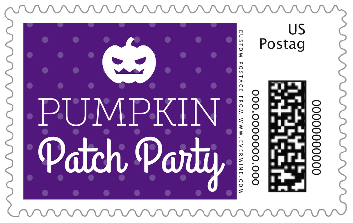 custom large postage stamps - purple - iconic halloween (set of 20)
