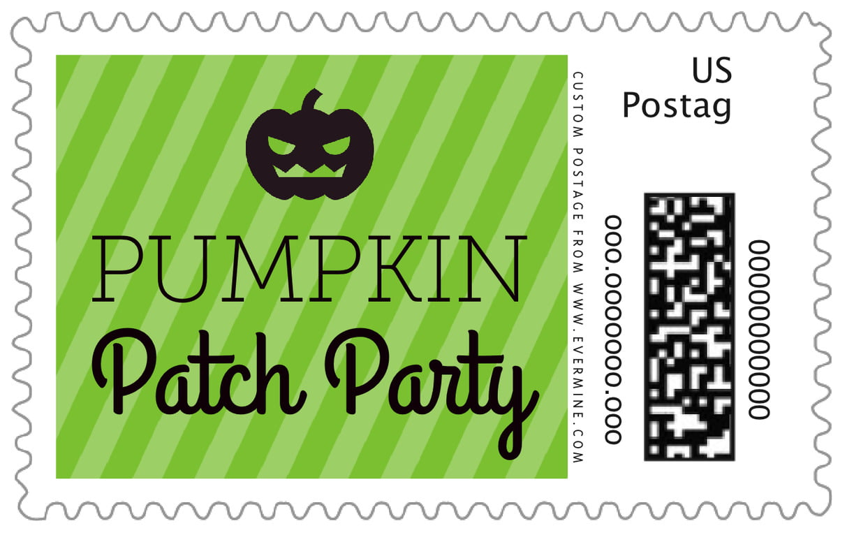custom large postage stamps - lime - iconic halloween (set of 20)