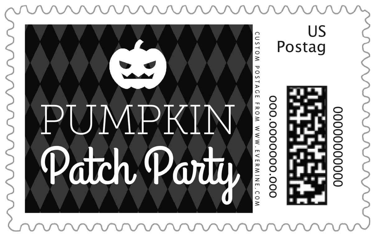 custom large postage stamps - tuxedo - iconic halloween (set of 20)