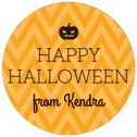 Iconic Halloween holiday labels