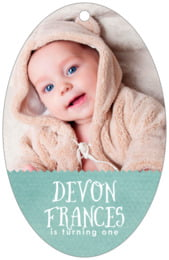 Chevron Edge large oval hang tags