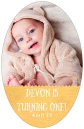 Chevron Edge tall oval labels