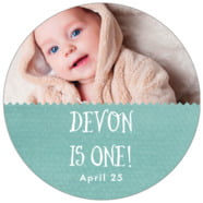 Chevron Edge large circle labels