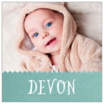 Chevron Edge baby labels and stickers