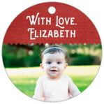 Chevron Edge circle hang tags