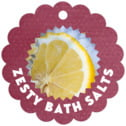 Chevron Edge scallop hang tags