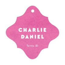 Chevron Edge fancy diamond hang tags