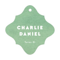 Chevron Edge Fancy Diamond Hang Tag In Mint