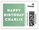 Chevron Edge Small Postage Stamp In Mint