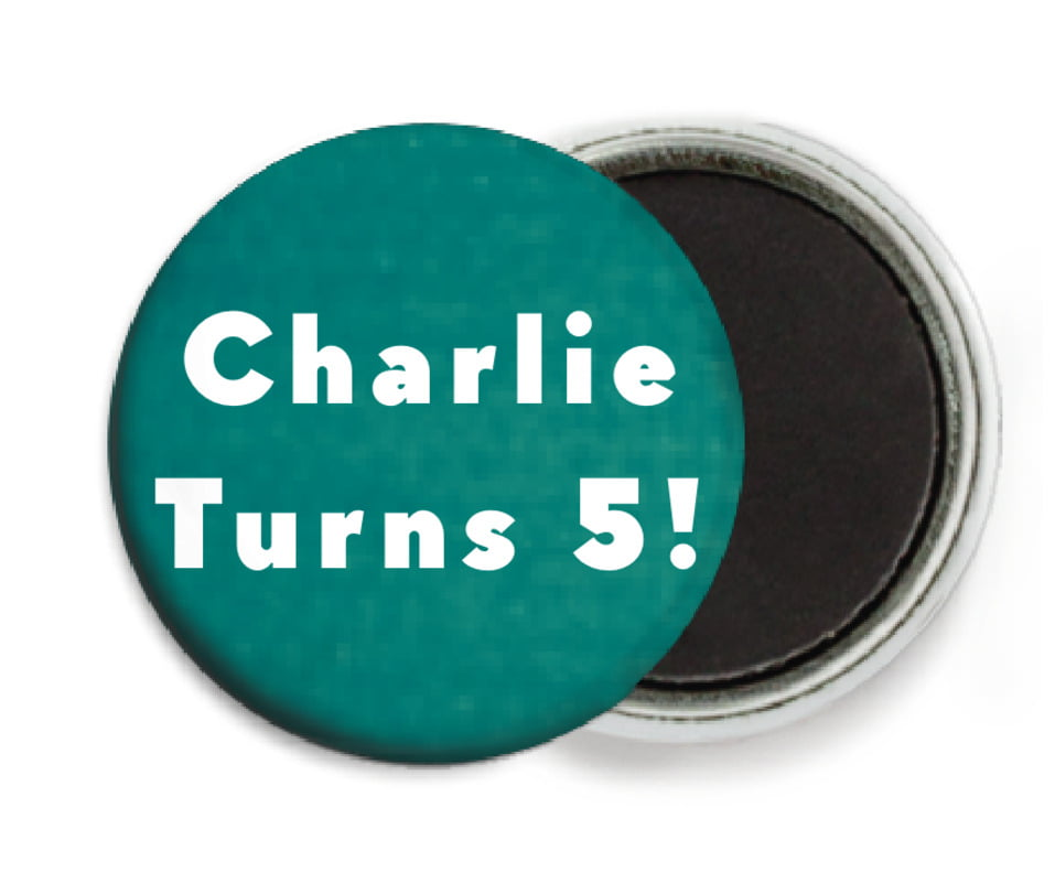 custom button magnets - turquoise - chevron edge (set of 6)