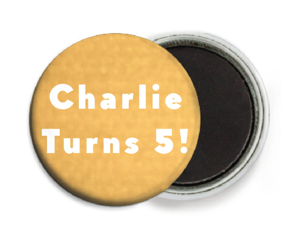 custom button magnets - sunburst - chevron edge (set of 6)