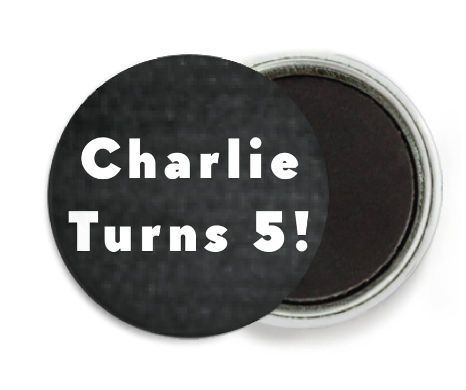 custom button magnets - tuxedo - chevron edge (set of 6)