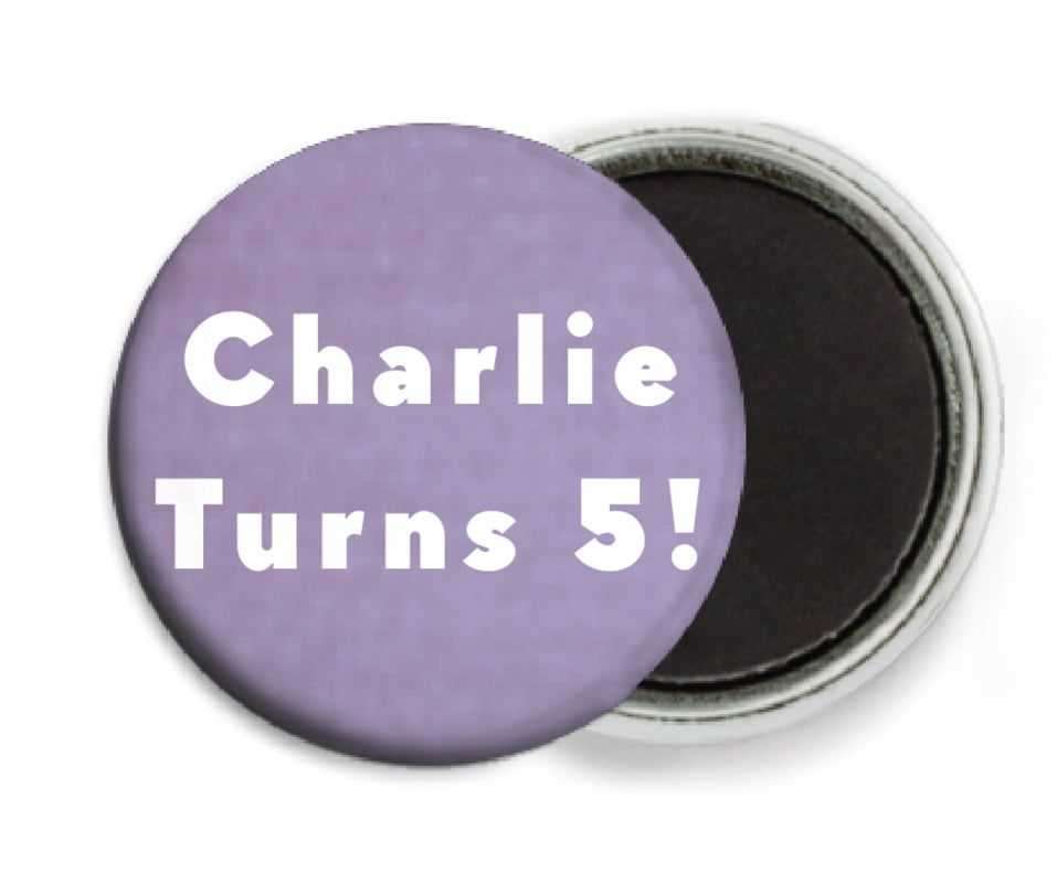 custom button magnets - lilac - chevron edge (set of 6)