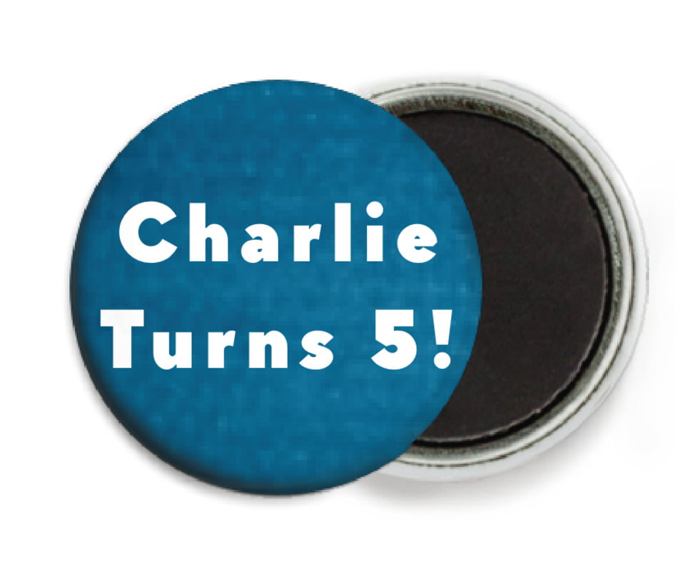 custom button magnets - bahama blue - chevron edge (set of 6)