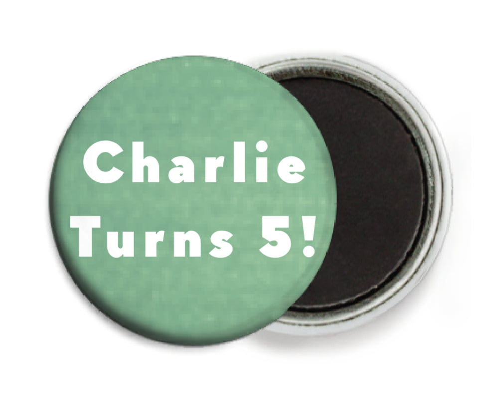 custom button magnets - mint - chevron edge (set of 6)