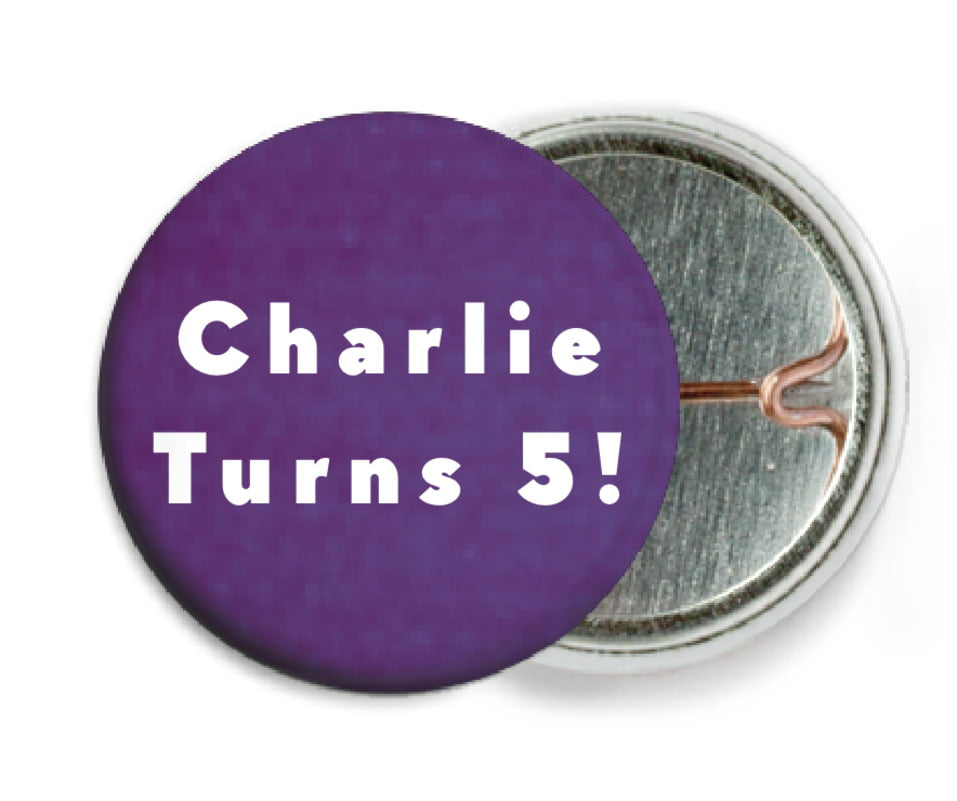 custom pin back buttons - plum - chevron edge (set of 6)