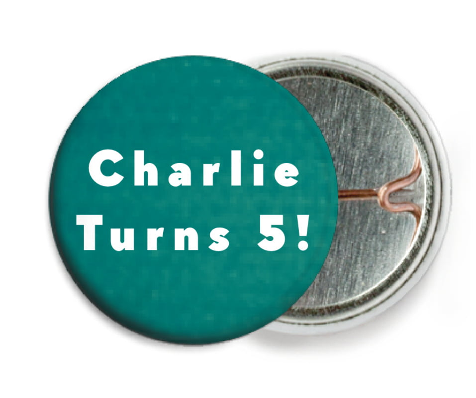 custom pin back buttons - turquoise - chevron edge (set of 6)