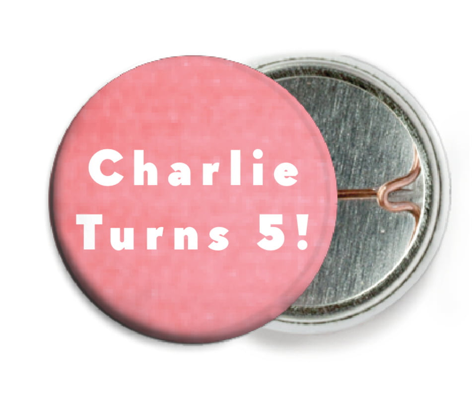 custom pin back buttons - grapefruit - chevron edge (set of 6)