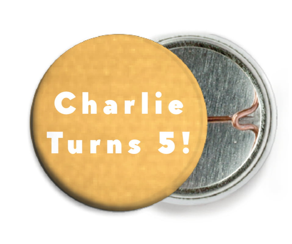 custom pin back buttons - sunburst - chevron edge (set of 6)
