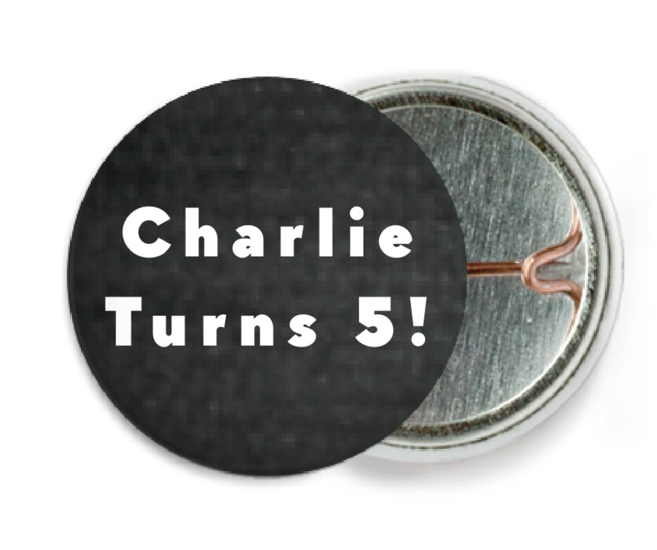 custom pin back buttons - tuxedo - chevron edge (set of 6)