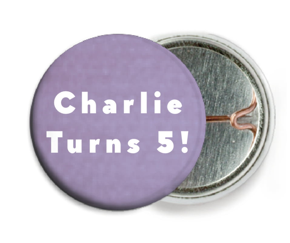 custom pin back buttons - lilac - chevron edge (set of 6)