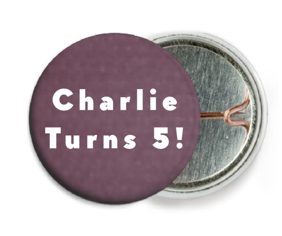 custom pin back buttons - wine - chevron edge (set of 6)