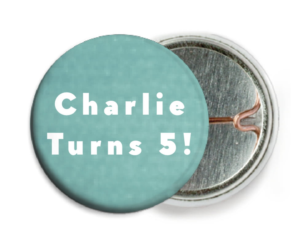 custom pin back buttons - aruba - chevron edge (set of 6)