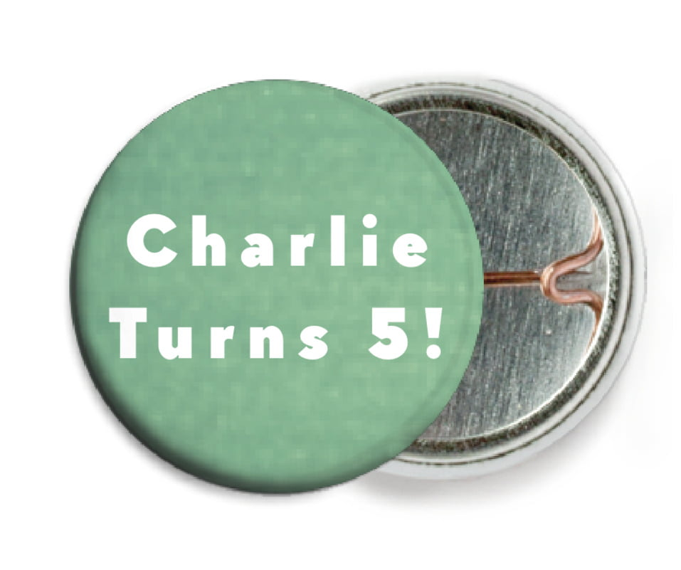 custom pin back buttons - mint - chevron edge (set of 6)