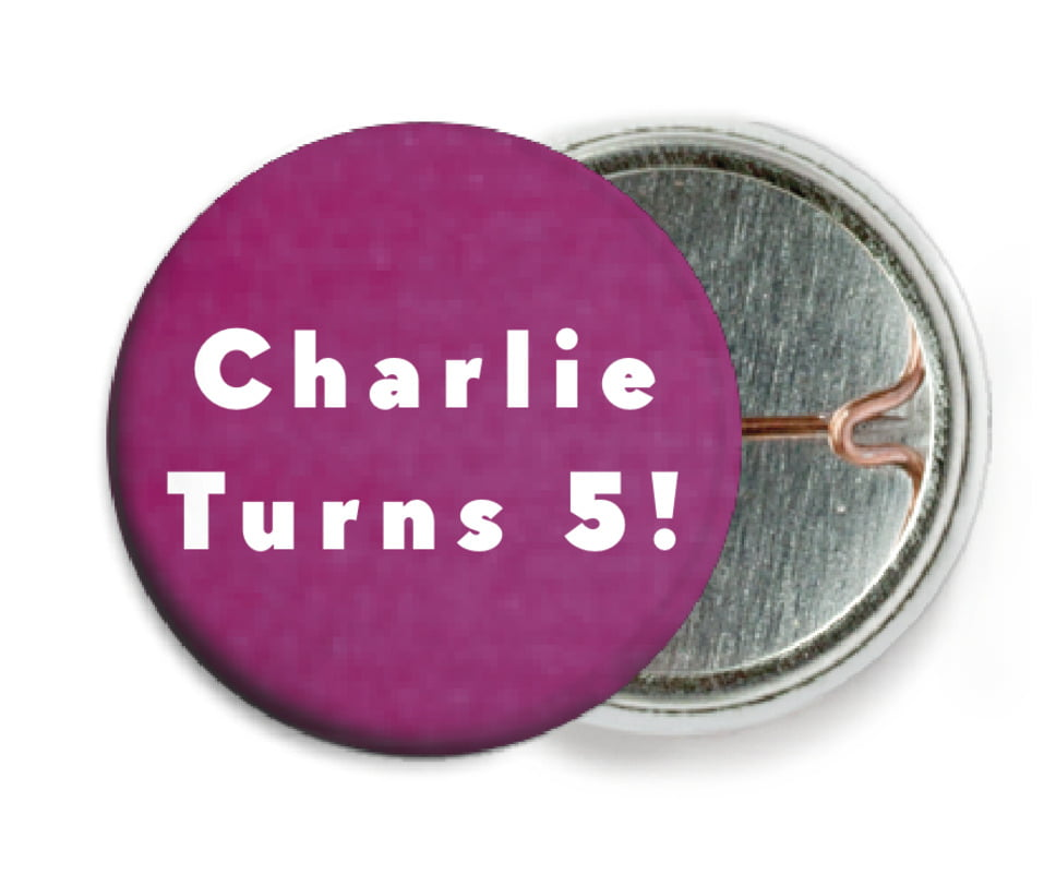 custom pin back buttons - radiant orchid - chevron edge (set of 6)