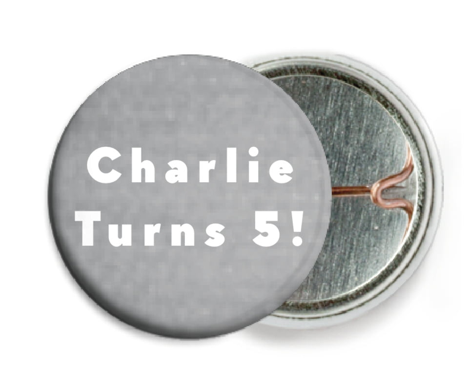 custom pin back buttons - stone - chevron edge (set of 6)
