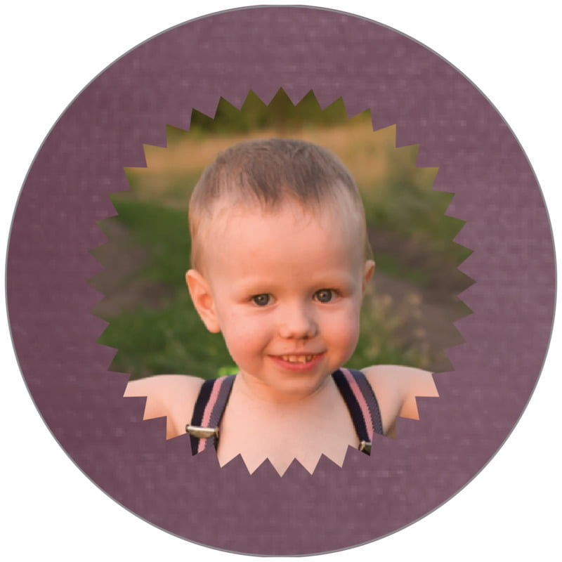 circle photo labels - wine - chevron edge (set of 20)