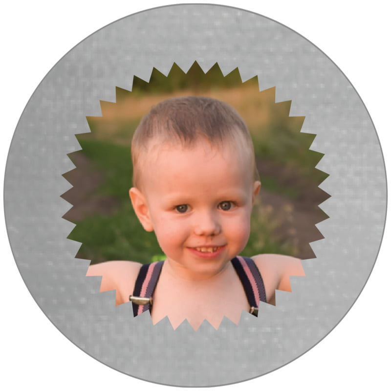 circle photo labels - stone - chevron edge (set of 20)
