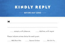 custom response cards - cobalt - chevron edge (set of 10)