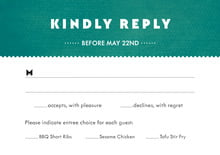 custom response cards - turquoise - chevron edge (set of 10)