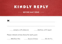 custom response cards - deep red - chevron edge (set of 10)