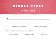custom response cards - deep coral - chevron edge (set of 10)