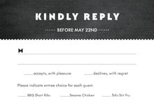 custom response cards - tuxedo - chevron edge (set of 10)