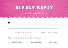 custom response cards - bright pink - chevron edge (set of 10)