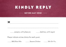 custom response cards - burgundy - chevron edge (set of 10)