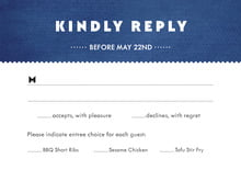 custom response cards - deep blue - chevron edge (set of 10)