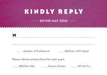custom response cards - radiant orchid - chevron edge (set of 10)
