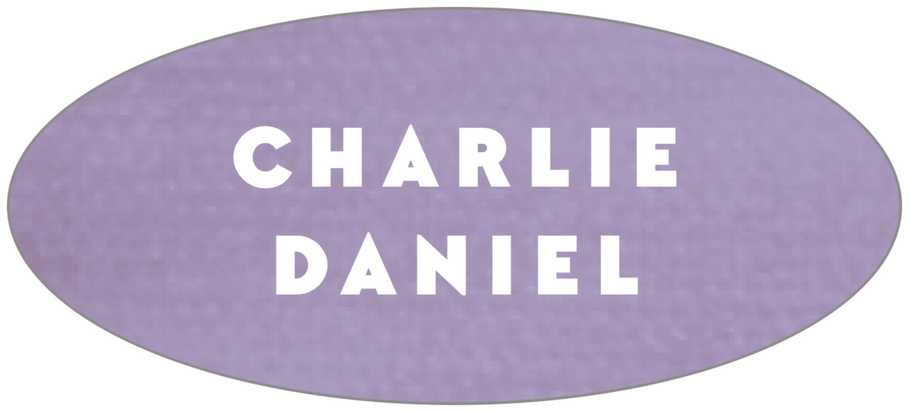 oval food/craft labels - lilac - chevron edge (set of 30)