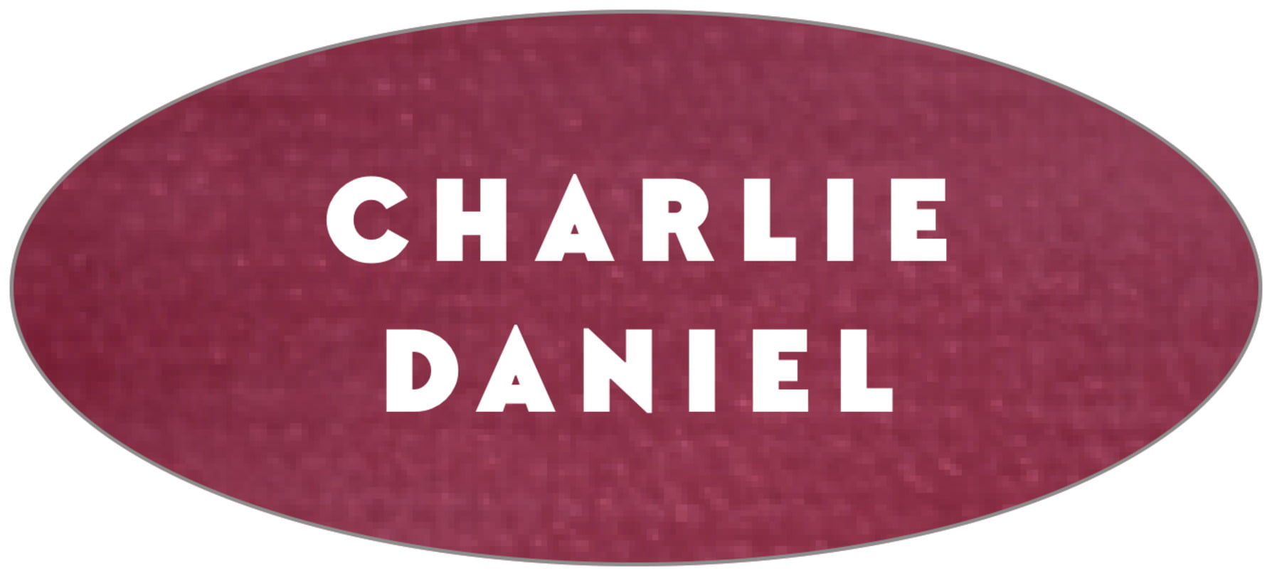 oval food/craft labels - burgundy - chevron edge (set of 30)
