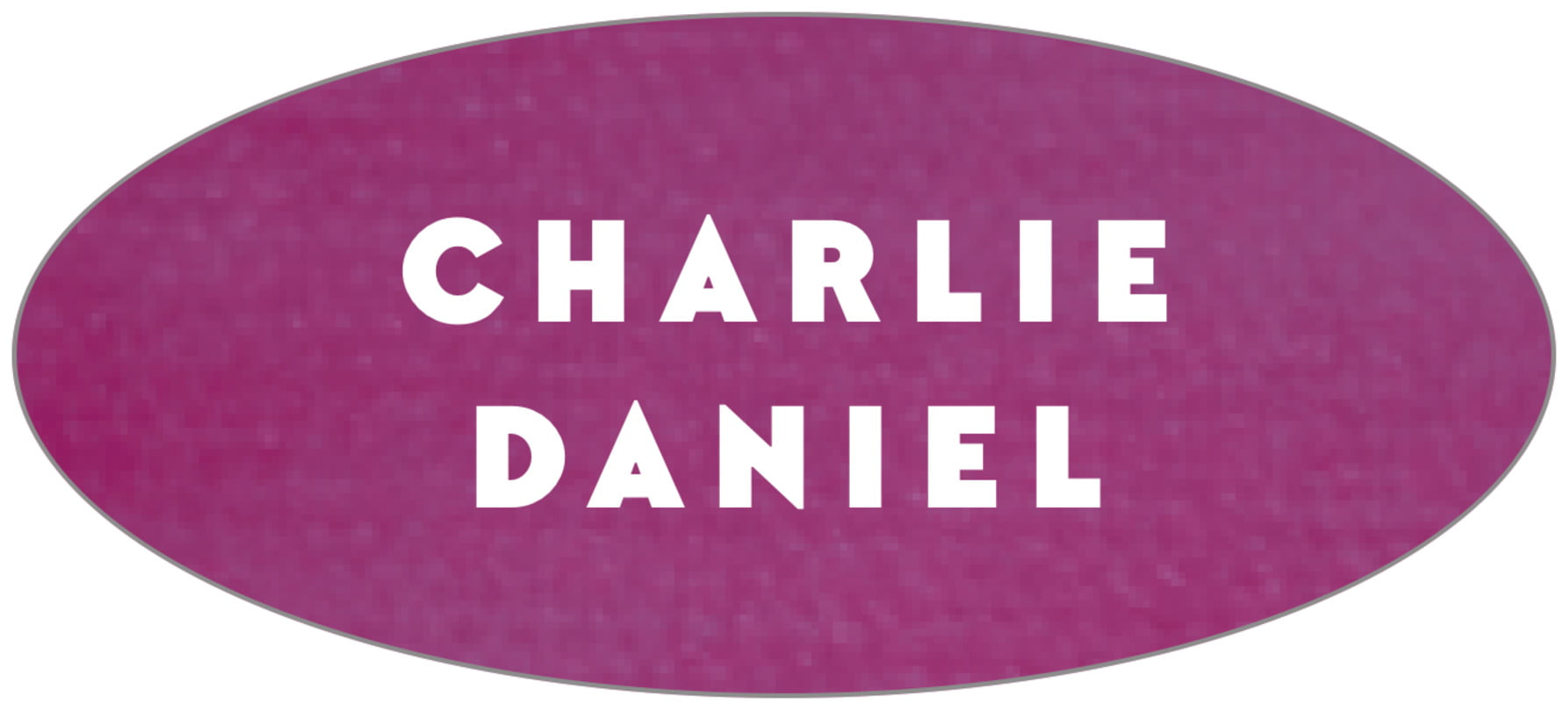 oval food/craft labels - radiant orchid - chevron edge (set of 30)