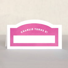 Chevron Edge place cards