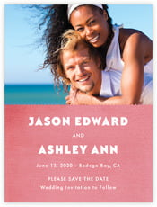 Chevron Edge save the date cards