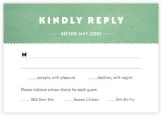 Chevron Edge Response Card In Mint